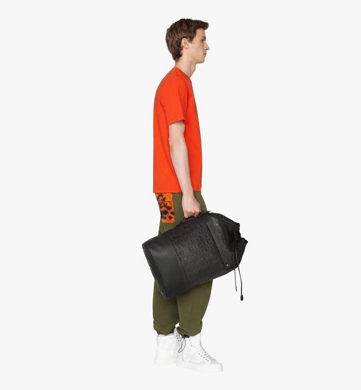 MCM Tivitat Drawstring Backpack in Monogram Leather Black MUK9ABT01BK001 Alternate View 6