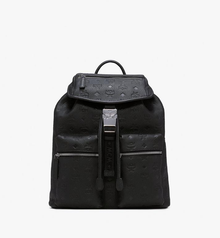 MCM Two-Pocket Backpack in Tivitat Leather Alternate View