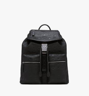 MCM Two-Pocket Backpack in Tivitat Leather Alternate View 1