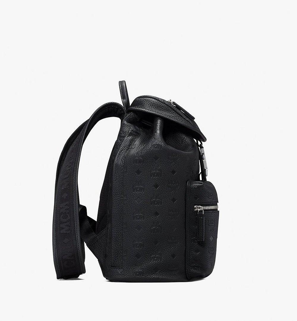 MCM Tivitat Two-Pocket Backpack in Monogram Leather Black MUK9ABT03BK001 Alternate View 1