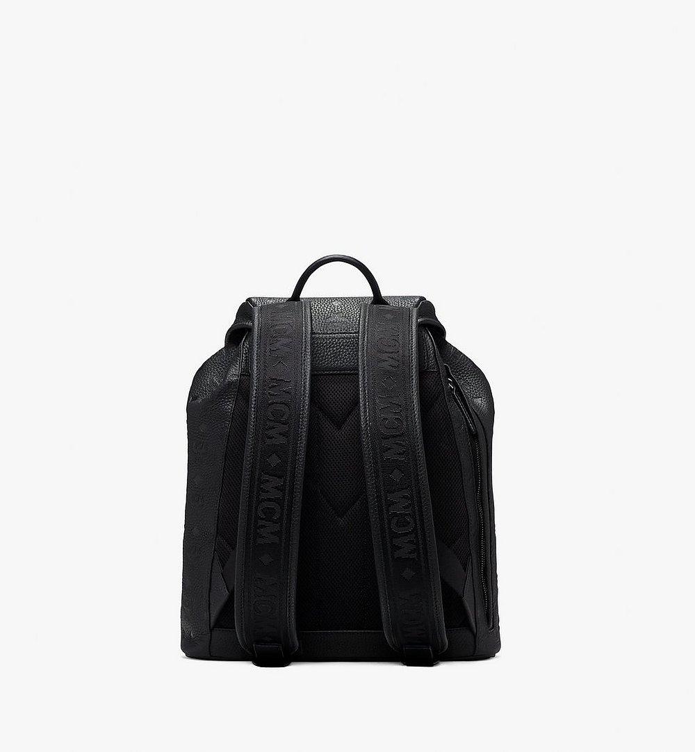 MCM Tivitat Two-Pocket Backpack in Monogram Leather Black MUK9ABT03BK001 Alternate View 2