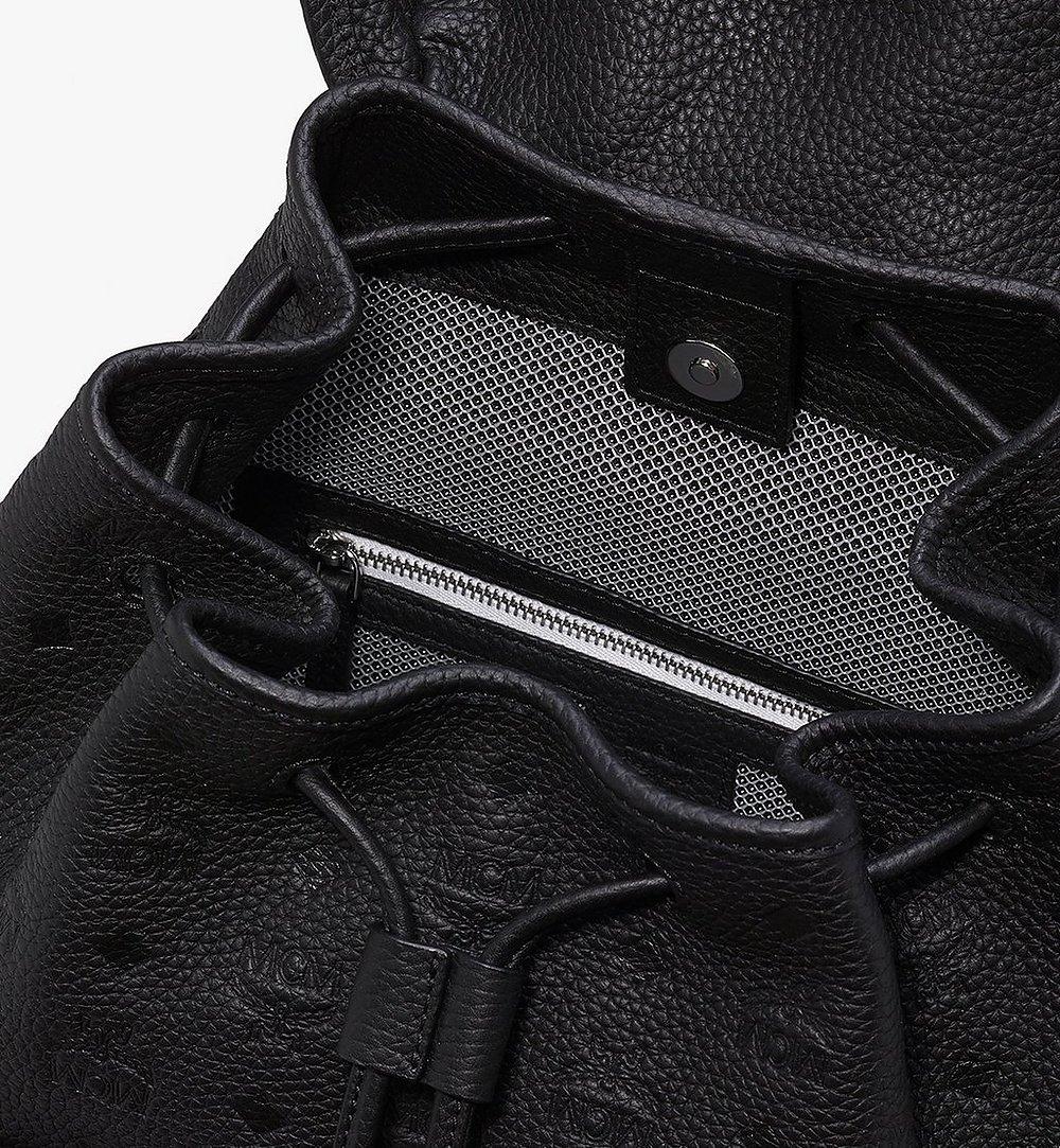 MCM Tivitat Two-Pocket Backpack in Monogram Leather Black MUK9ABT03BK001 Alternate View 3