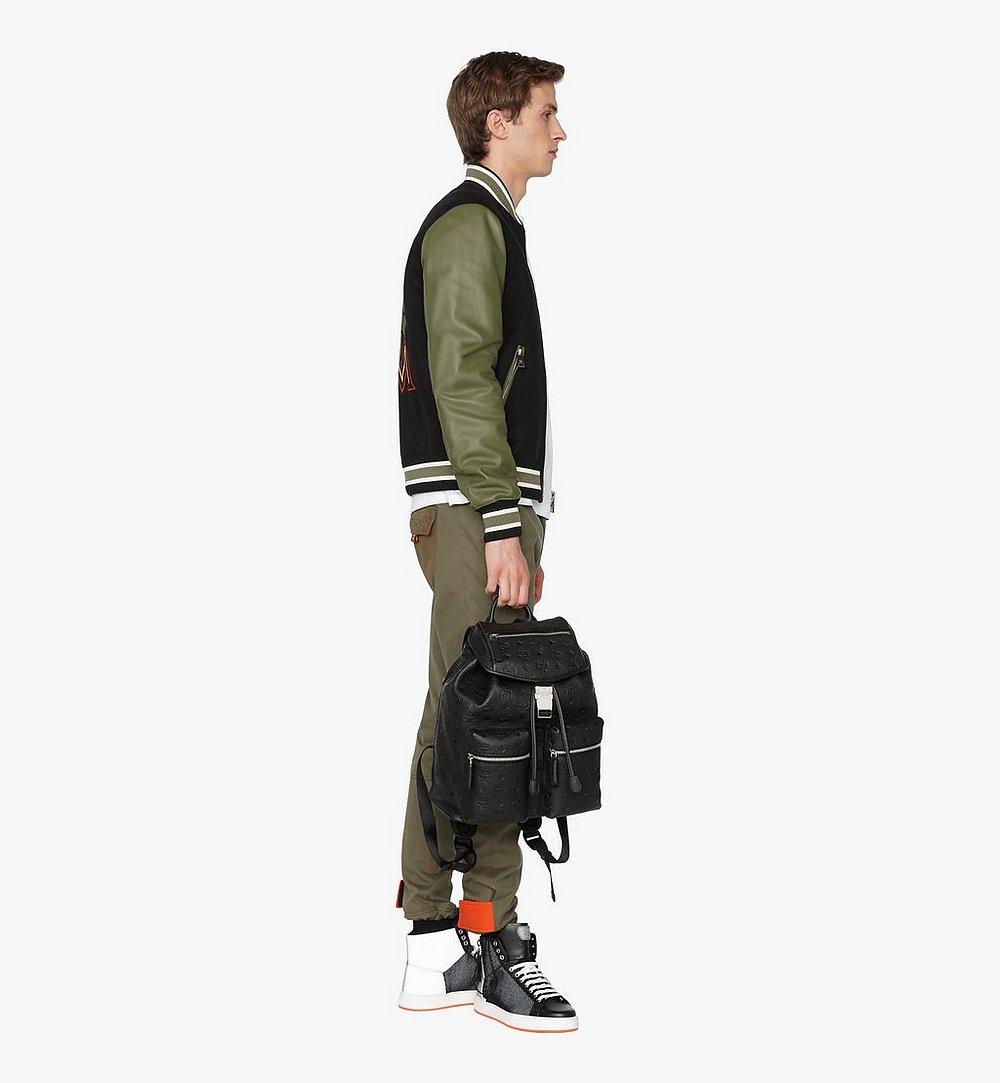 MCM Tivitat Two-Pocket Backpack in Monogram Leather Black MUK9ABT03BK001 Alternate View 4