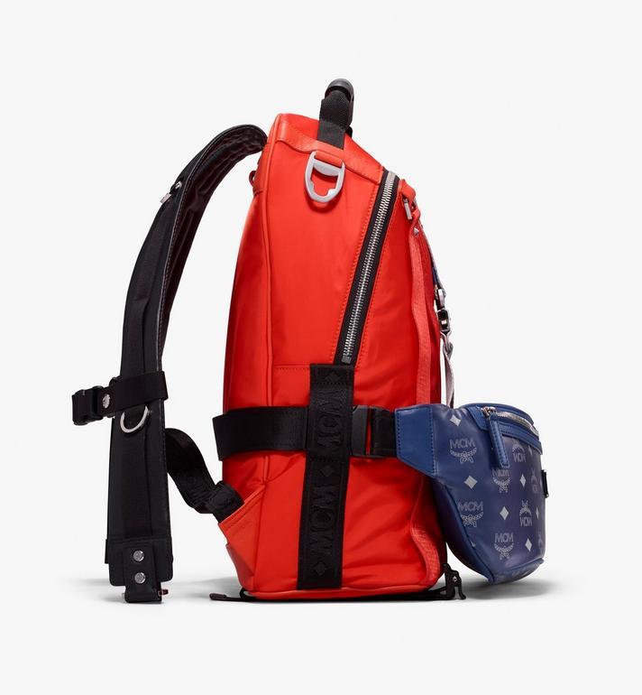 MCM Jemison 2-in-1 Backpack in Logo Nylon  MUK9AJV31O1001 Alternate View 2