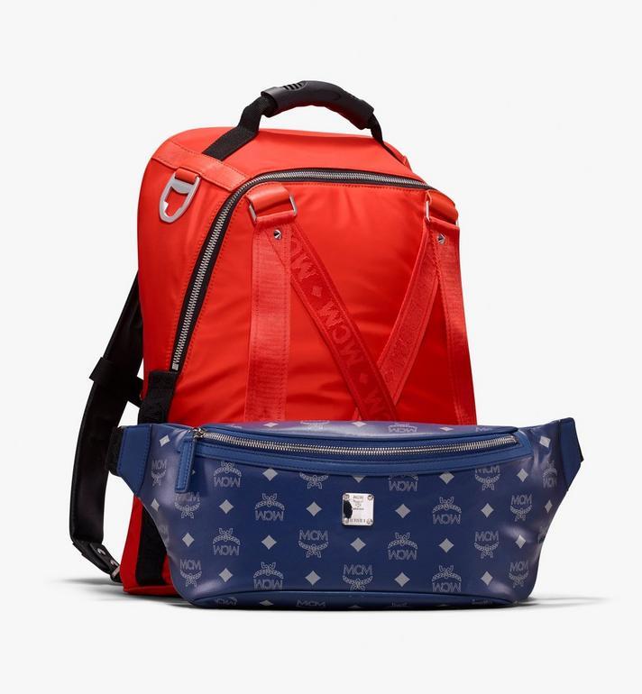 MCM Jemison 2-in-1 Backpack in Logo Nylon  MUK9AJV31O1001 Alternate View 4