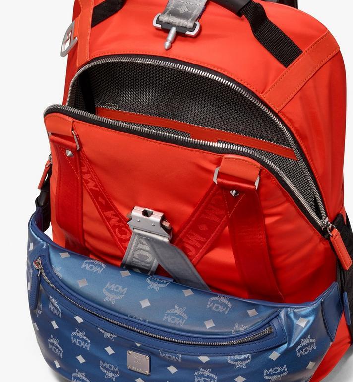 MCM Jemison 2-in-1 Backpack in Logo Nylon  MUK9AJV31O1001 Alternate View 5