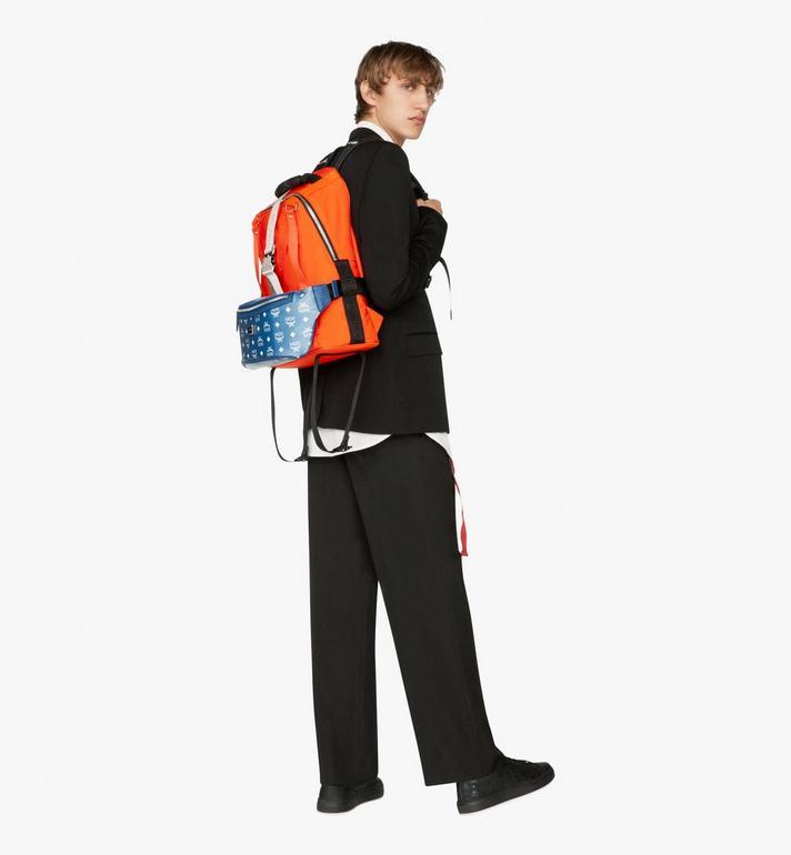 MCM Jemison 2-in-1 Backpack in Logo Nylon  MUK9AJV31O1001 Alternate View 6