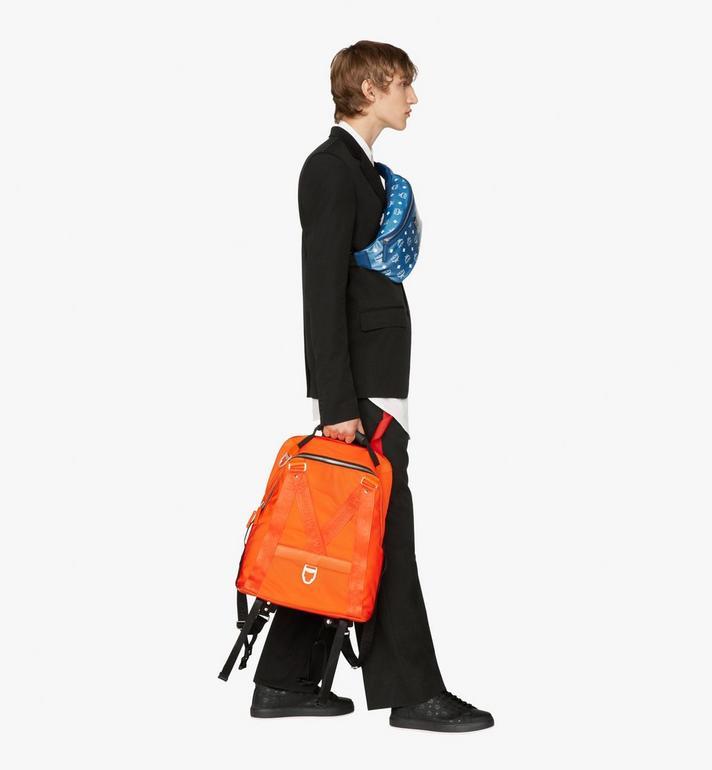 MCM Jemison 2-in-1 Backpack in Logo Nylon  MUK9AJV31O1001 Alternate View 7