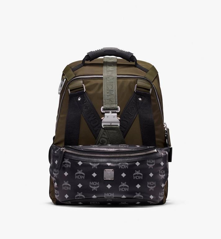 MCM Jemison 2-in-1 Backpack in Logo Nylon Alternate View