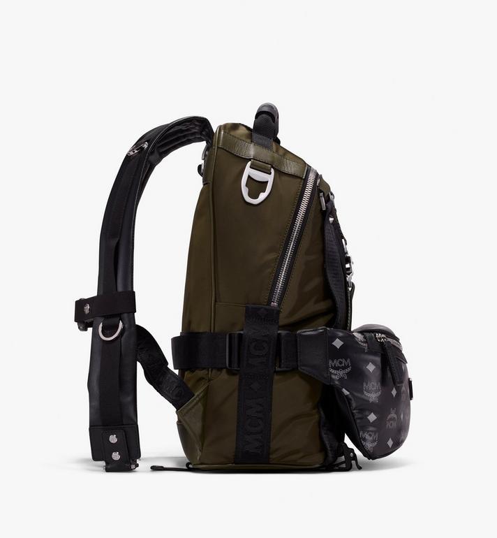 MCM Jemison 2-in-1 Backpack in Logo Nylon Alternate View 2