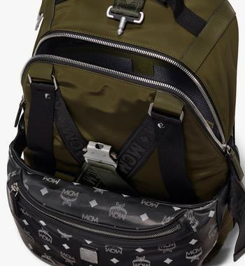 MCM Jemison 2-in-1 Backpack in Logo Nylon Alternate View 5