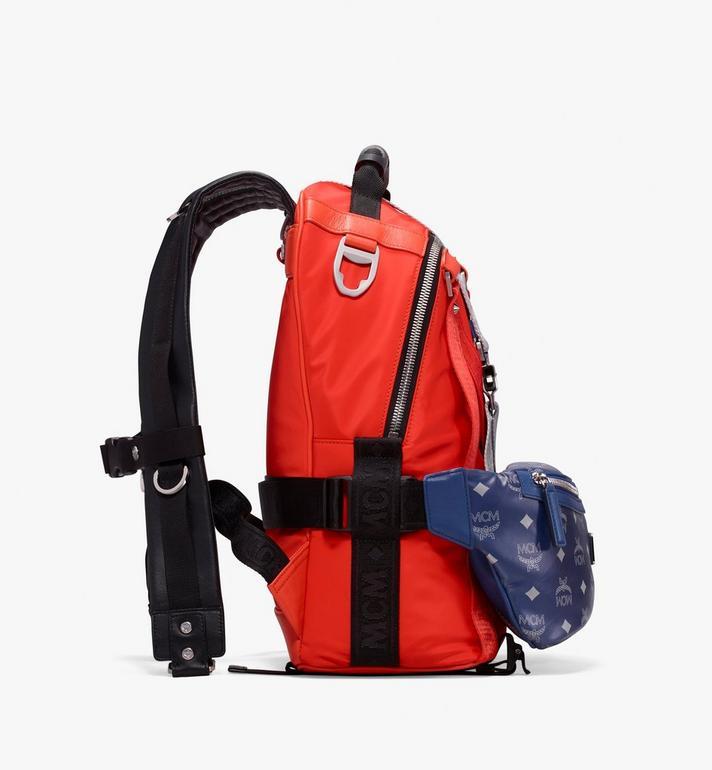 MCM Jemison 2-in-1 Backpack in Logo Nylon  MUK9AJV33O1001 Alternate View 2
