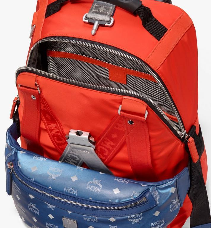MCM Jemison 2-in-1 Backpack in Logo Nylon  MUK9AJV33O1001 Alternate View 5