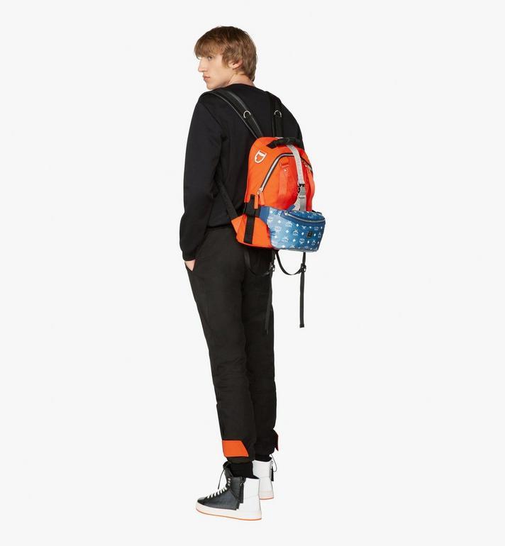 MCM Jemison 2-in-1 Backpack in Logo Nylon  MUK9AJV33O1001 Alternate View 6