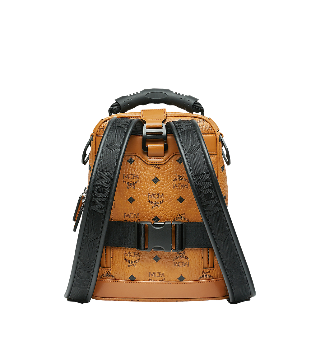 MCM Jemison 2-in-1 Backpack in Visetos Cognac MUK9SJV19CO001 Alternate View 3
