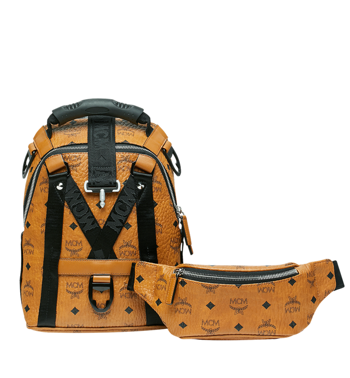 MCM Jemison 2-in-1 Rucksack in Visetos Alternate View 6