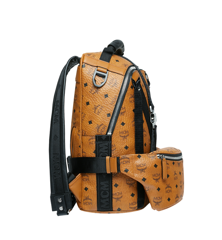MCM Sac à dos et sac porté à la taille Jemison en Visetos Cognac MUK9SJV20CO001 Alternate View 3