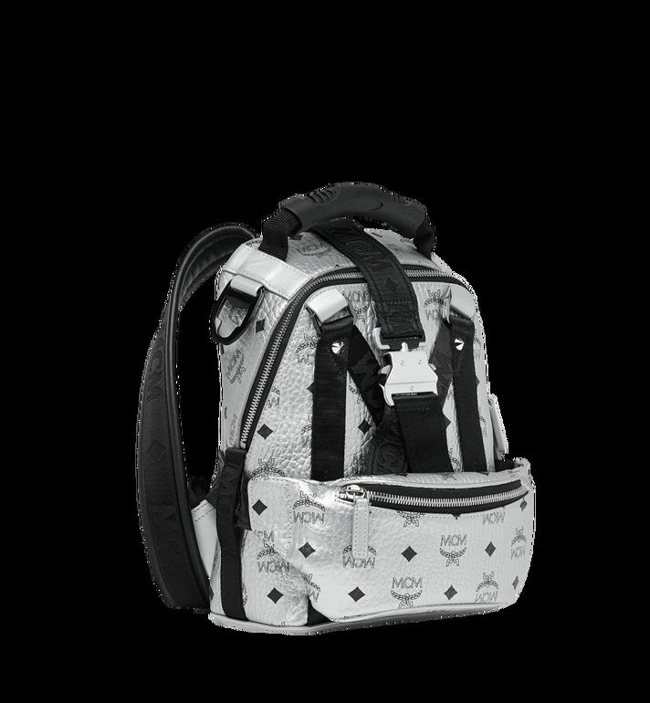 MCM Jemison 2-in-1 Backpack in Visetos Silver MUK9SJV23SB001 Alternate View 2