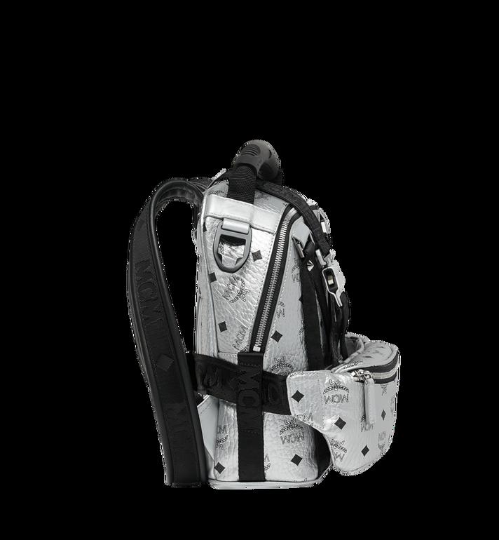 MCM Jemison 2-in-1 Backpack in Visetos Silver MUK9SJV23SB001 Alternate View 3