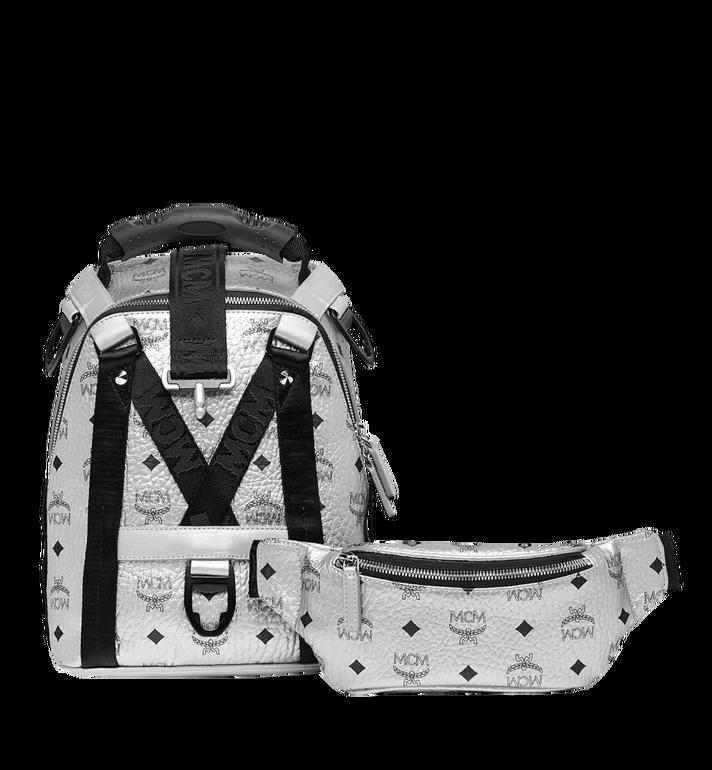 MCM Jemison 2-in-1 Backpack in Visetos Silver MUK9SJV23SB001 Alternate View 5