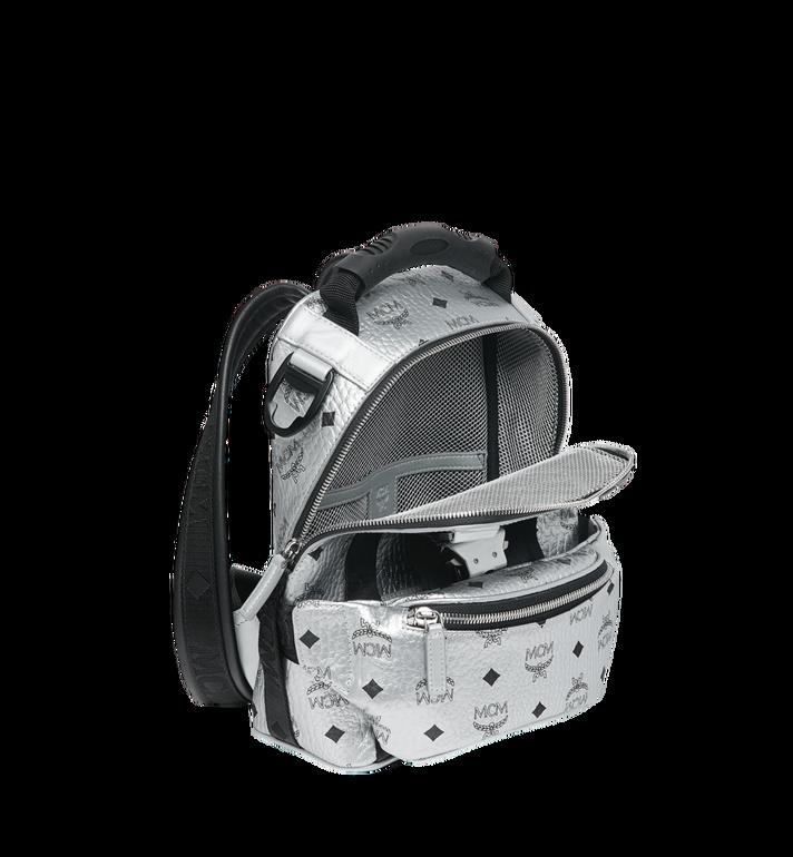 MCM Jemison 2-in-1 Backpack in Visetos Silver MUK9SJV23SB001 Alternate View 8