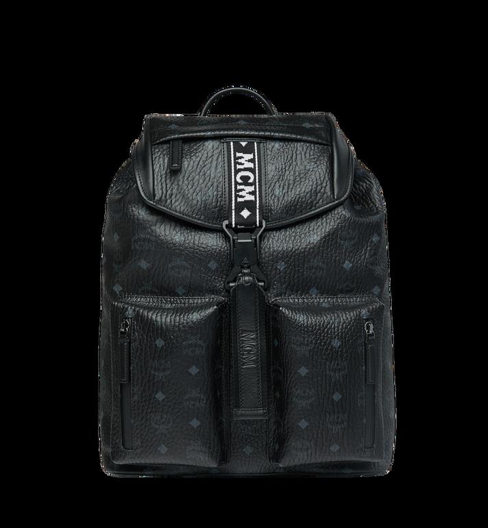 MCM Raymonde Two Pocket Backpack in Visetos MUK9SRY01BK001 AlternateView
