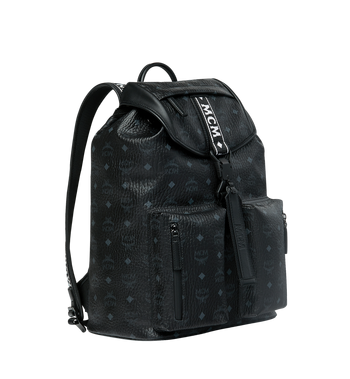 MCM Raymonde Two Pocket Backpack in Visetos MUK9SRY01BK001 AlternateView2