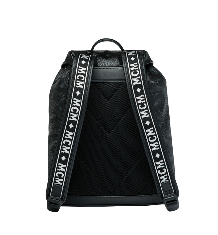 MCM Raymonde Two Pocket Backpack in Visetos MUK9SRY01BK001 AlternateView4