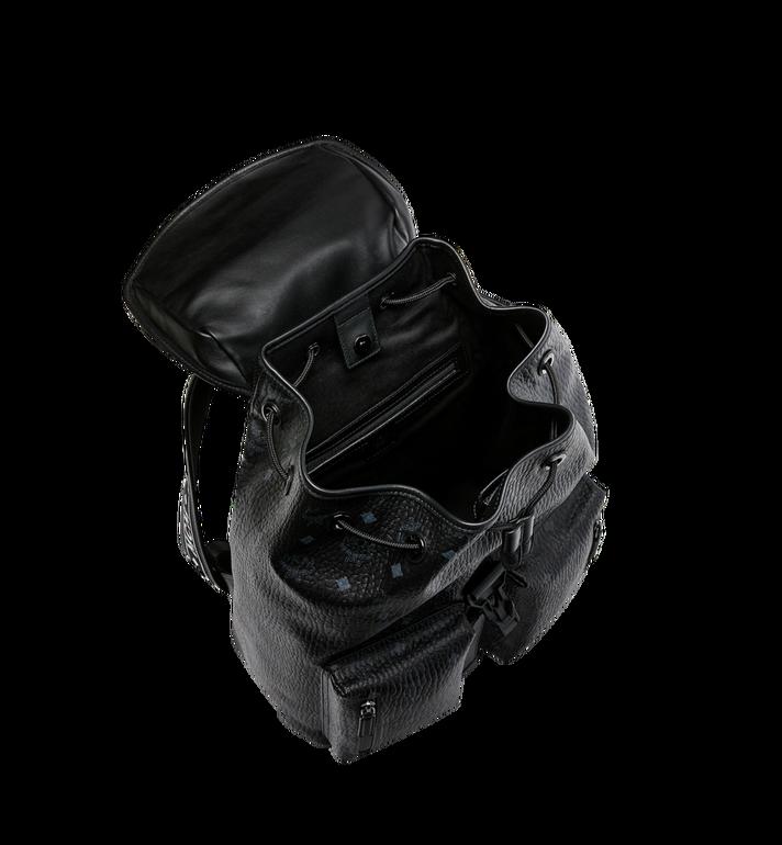 MCM Raymonde Two Pocket Backpack in Visetos MUK9SRY01BK001 AlternateView5