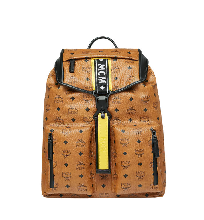 MCM Raymonde Two Pocket Backpack in Visetos AlternateView