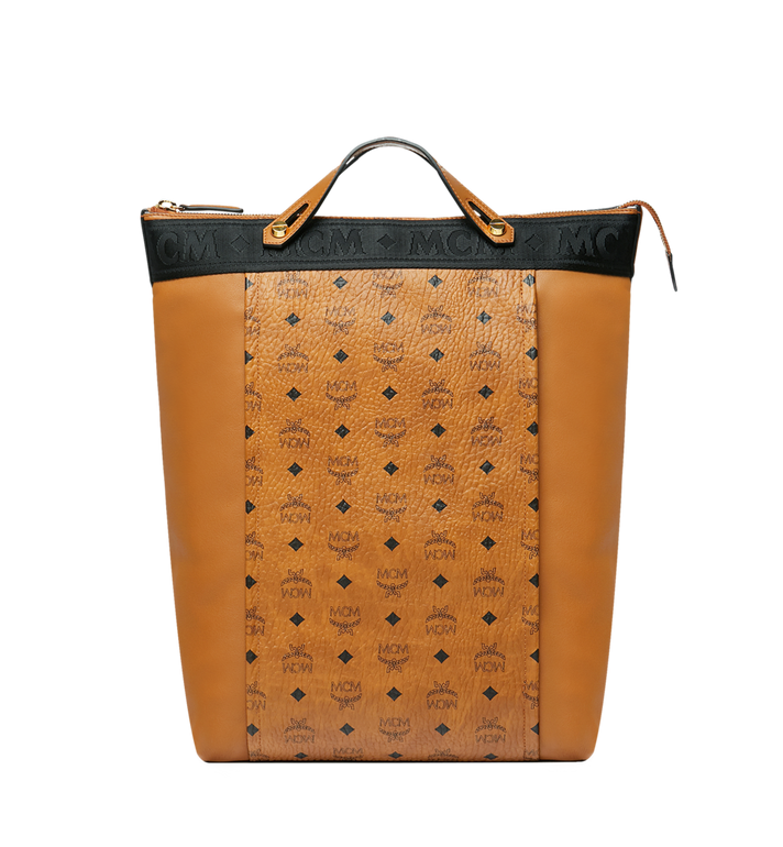 MCM Essential Tote Pack in Visetos and Leather Alternate View