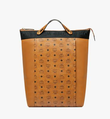 Essential Tote Pack in Visetos and Leather
