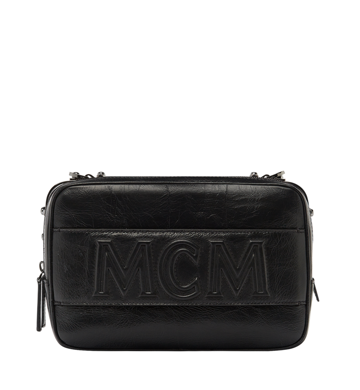 MCM Cubism Messenger in Foiled Leather MUM8AXC96BK001 AlternateView