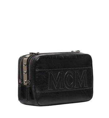 MCM Cubism Messenger in Foiled Leather MUM8AXC96BK001 AlternateView2