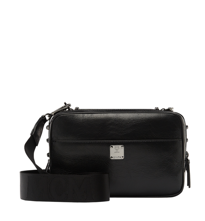 MCM Cubism Messenger in Foiled Leather MUM8AXC96BK001 AlternateView4