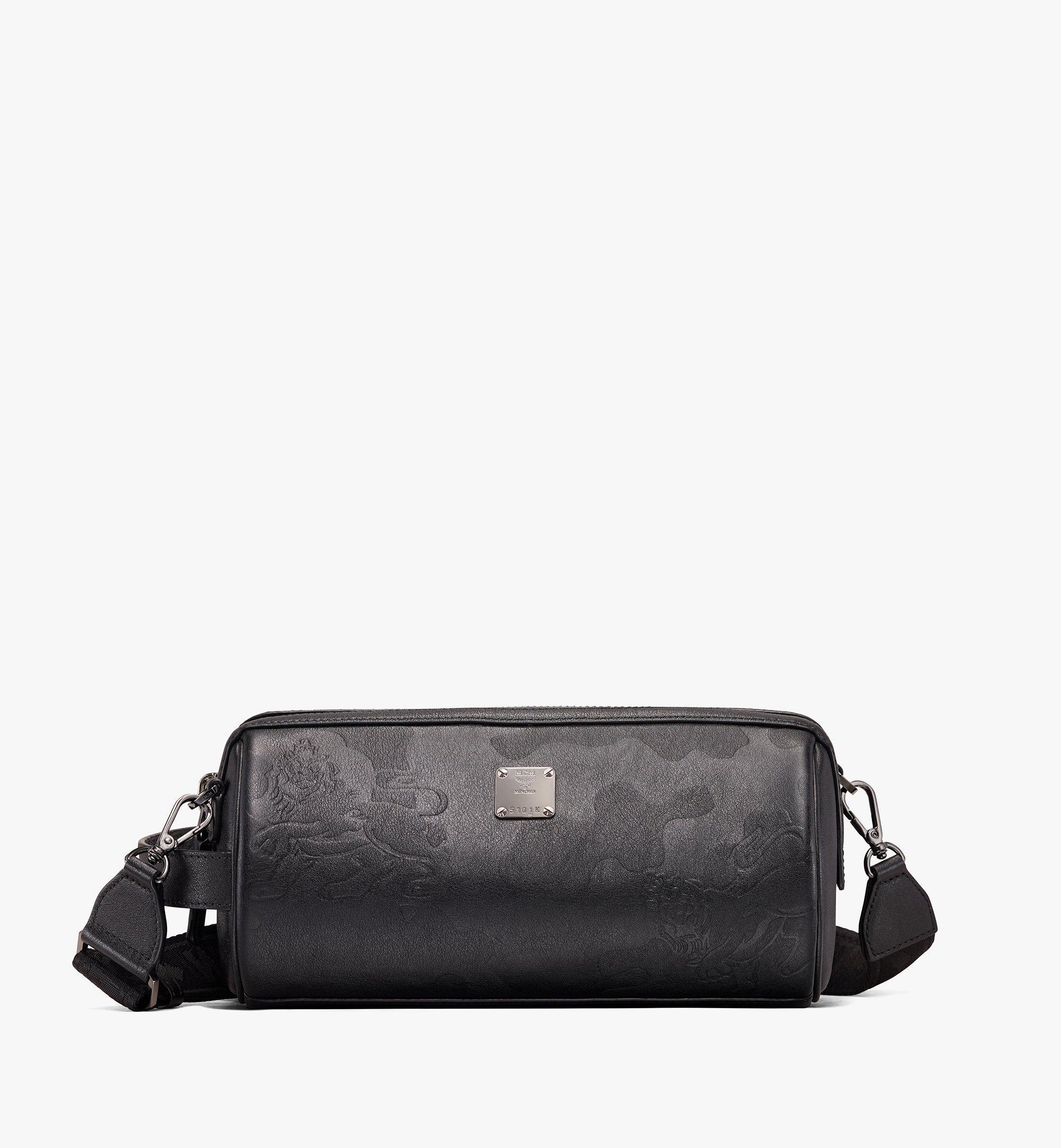 MCM Crossbody Bag in Embossed Lion Camo Black MUR9AES02BK001 Alternate View 1