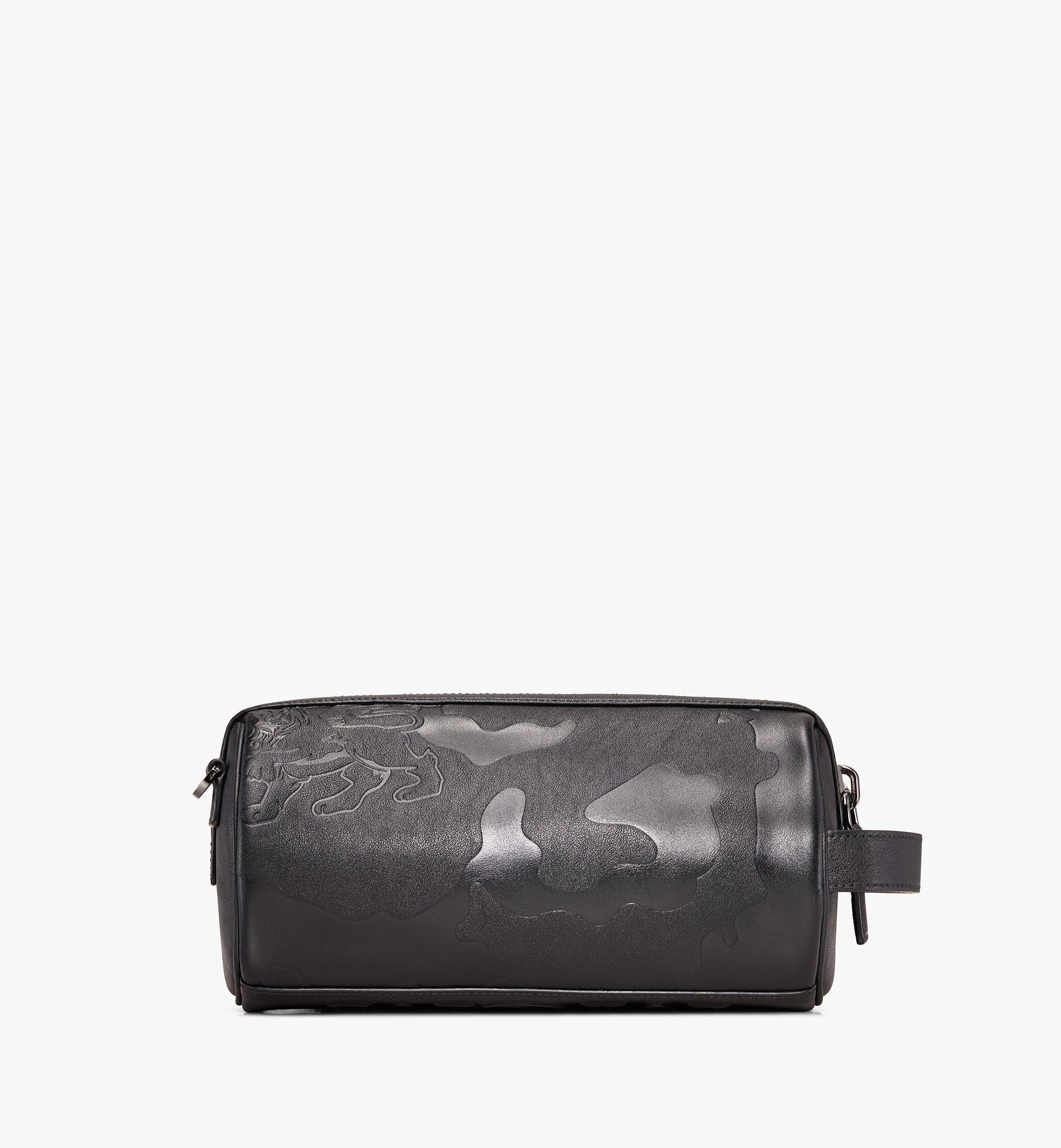 MCM Crossbody Bag in Embossed Lion Camo Black MUR9AES02BK001 Alternate View 3