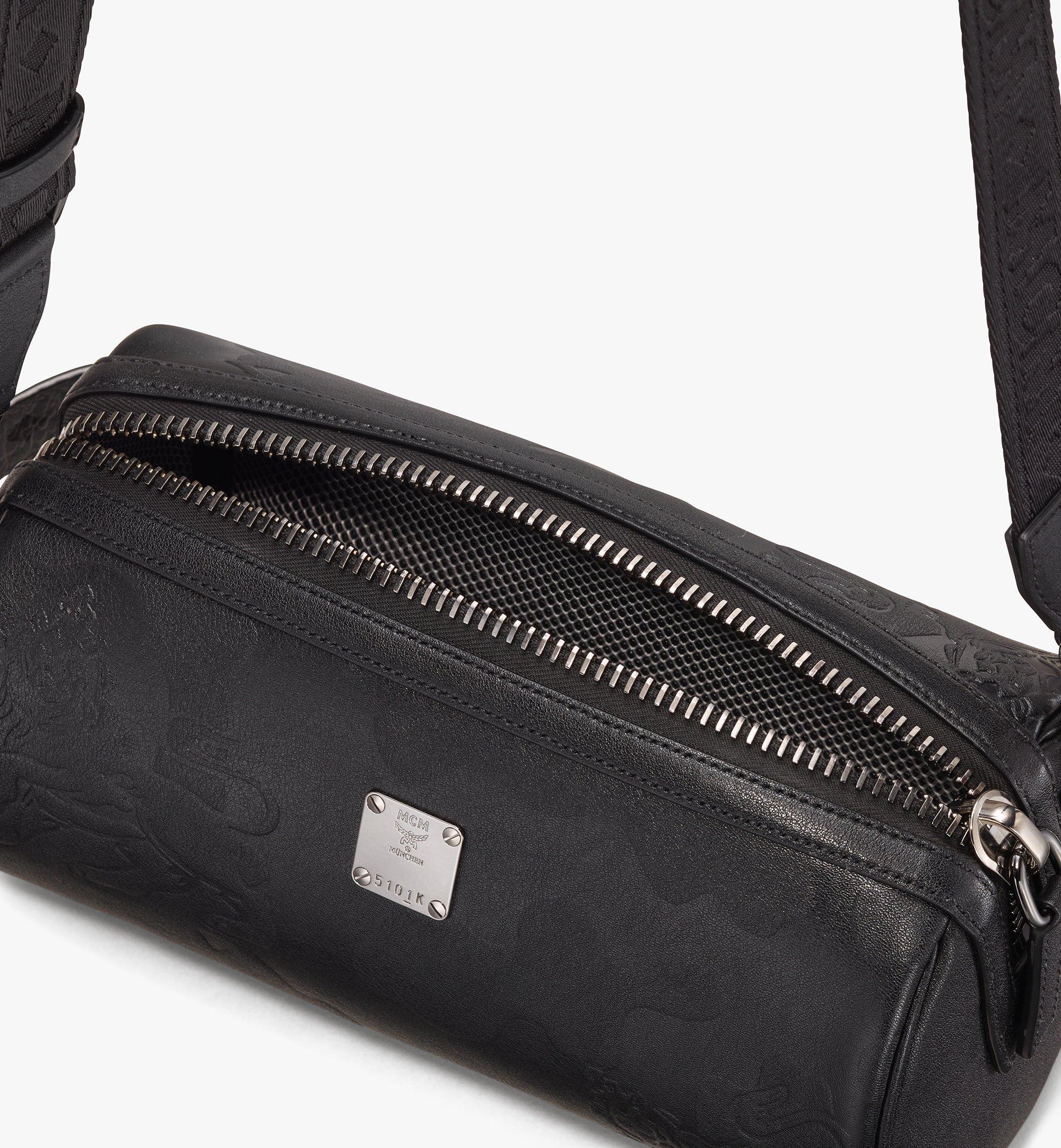 MCM Crossbody Bag in Embossed Lion Camo Black MUR9AES02BK001 Alternate View 4