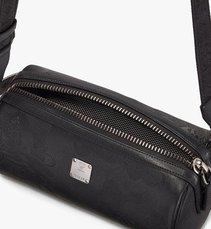 MCM Crossbody Bag in Embossed Lion Camo Alternate View 4