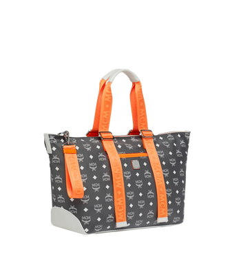 MCM Resnick Shoulder Bag in White Logo Nylon Alternate View 2