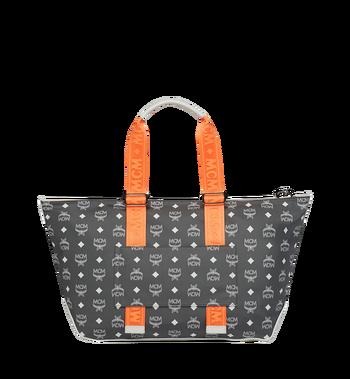 MCM Resnick Shoulder Bag in White Logo Nylon Alternate View 4