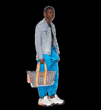 MCM Resnick Shoulder Bag in White Logo Nylon Alternate View 7