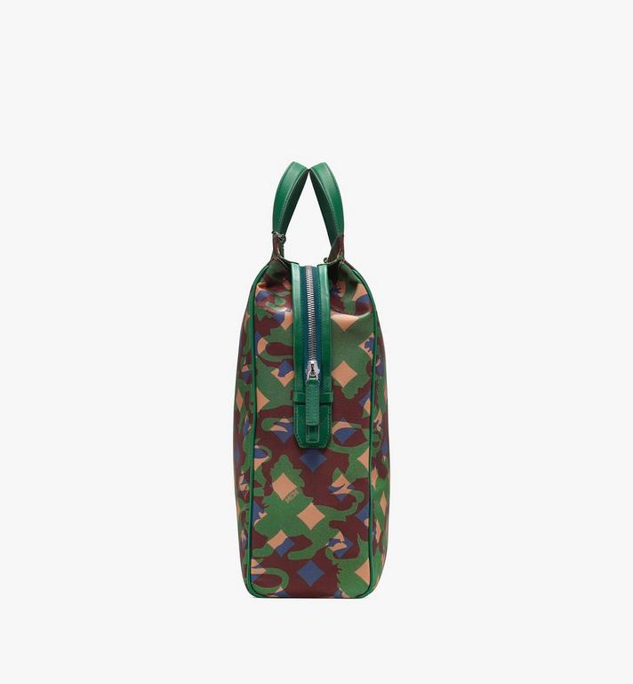MCM Dieter Tote Bag in Munich Lion Camo Green MUT9ADT50G5001 Alternate View 2