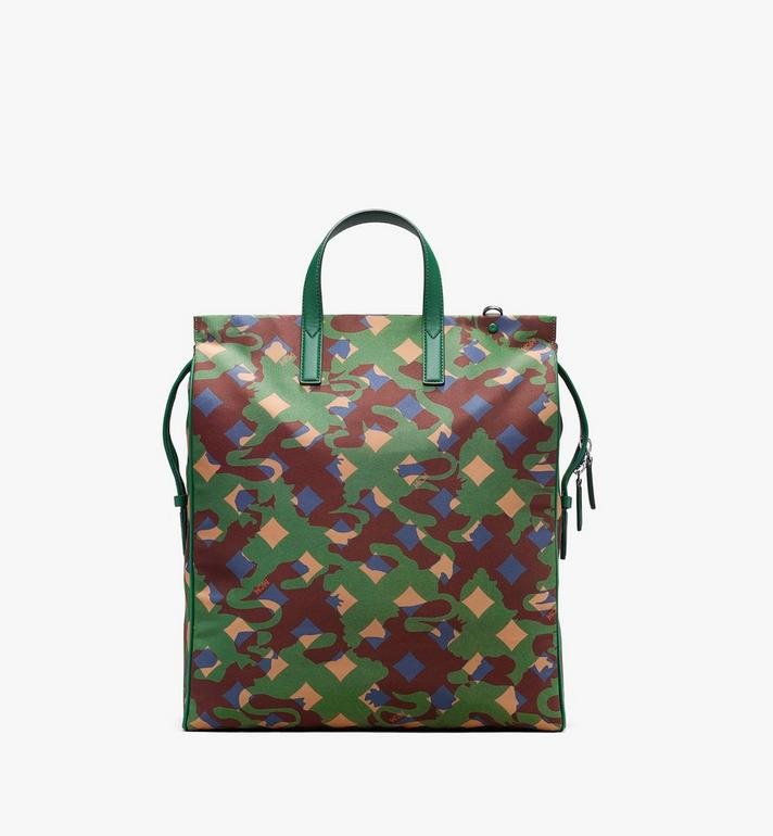 MCM Dieter Tote Bag in Munich Lion Camo Green MUT9ADT50G5001 Alternate View 3