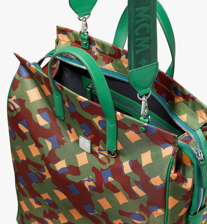 MCM Dieter Tote Bag in Munich Lion Camo Green MUT9ADT50G5001 Alternate View 4