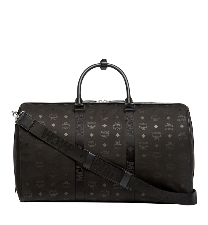 MCM Traveler Weekender in Monogram Nylon Black MUV7ADT14BK001 Alternate View 4