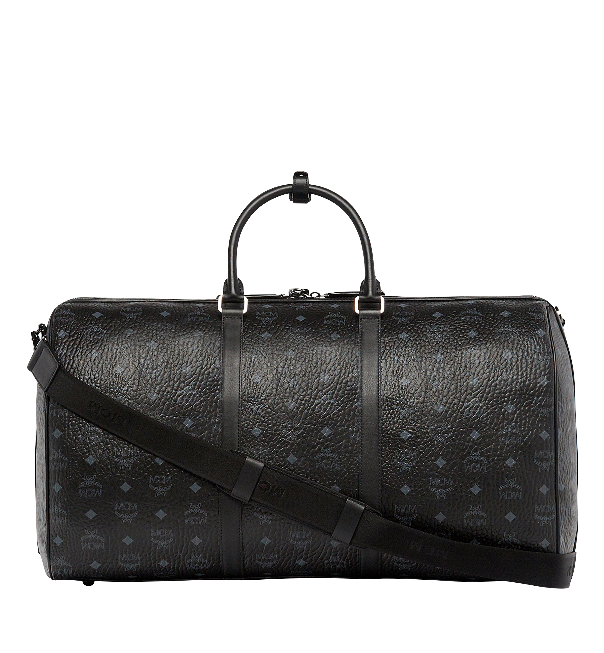 MCM Traveler Weekender in Visetos Black MUV7AVY01BK001 Alternate View 4