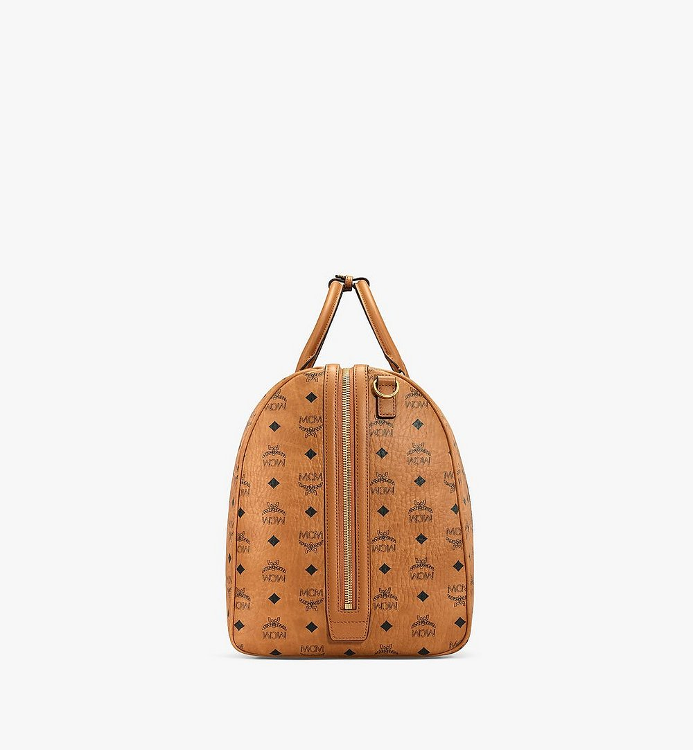 MCM Traveler Weekender in Visetos Cognac MUV7AVY01CO001 Alternate View 1