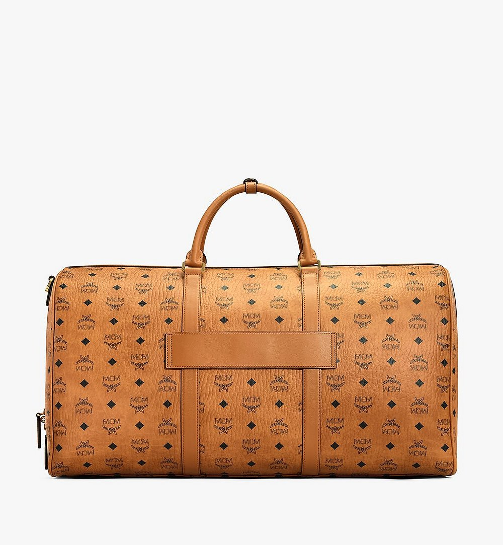 MCM Traveler Weekender in Visetos Cognac MUV7AVY01CO001 Alternate View 3