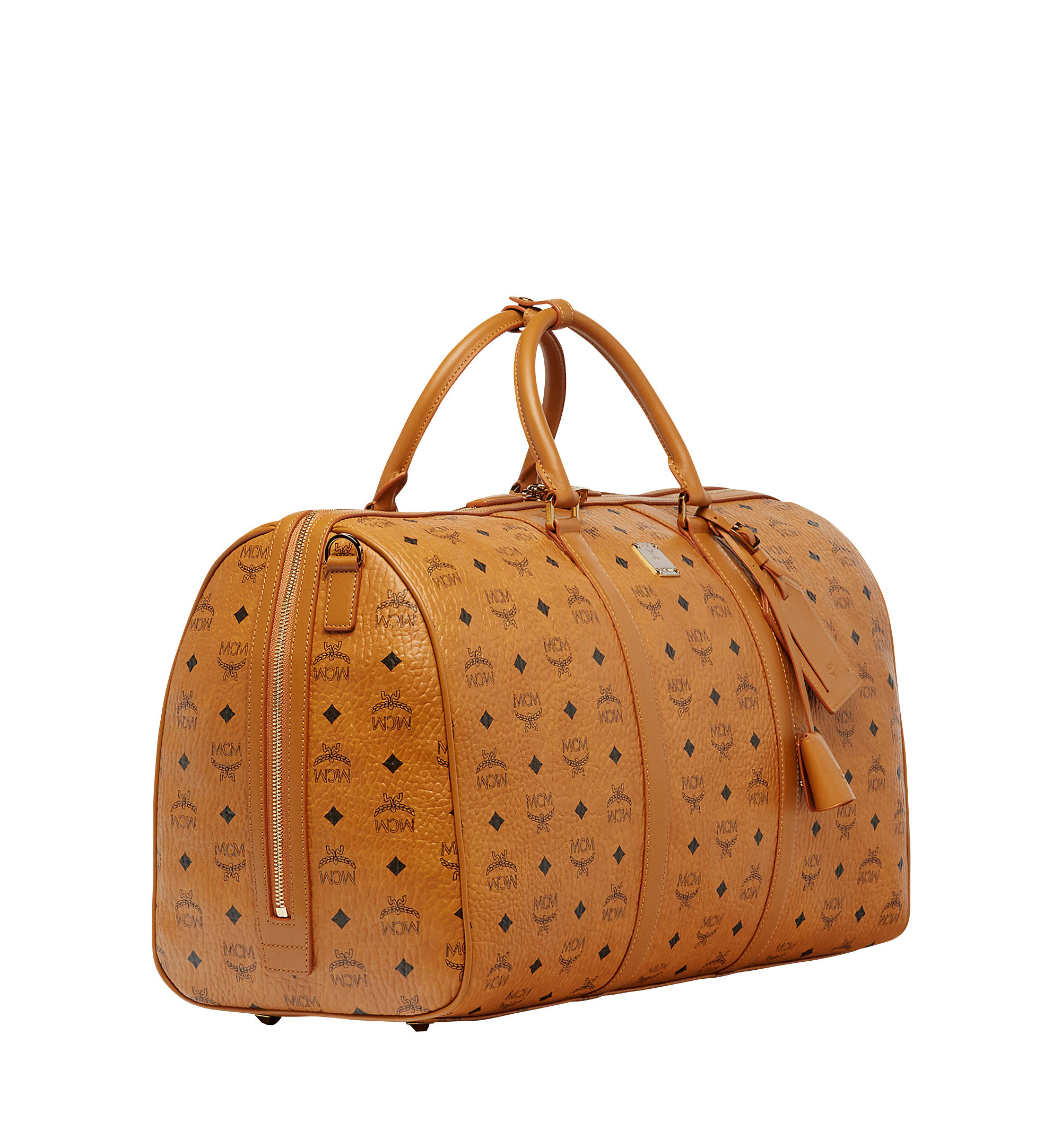 MCM Traveler Weekender in Visetos Cognac MUV7AVY02CO001 Alternate View 1